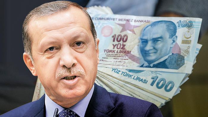 Erdogan Turkish Lira Turkish Pound Money Banknote Turkey