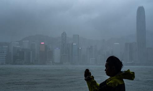 תמונת ארכיון - סופת טייפון קודמת בהונג קונג , צילום: AFP