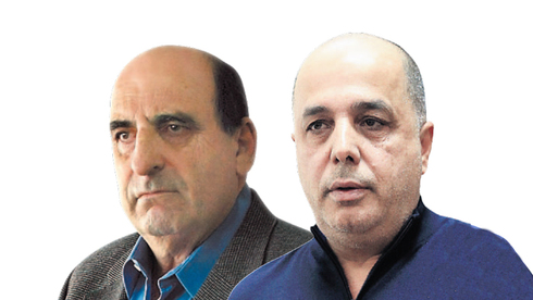 מימין: עמוס לוזון ומשה צאיג , צילום: אוראל כהן, עמית שעל