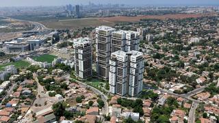 הדמיית ה פרויקט של רמות בעיר במתחם מורשה ב רמת השרון