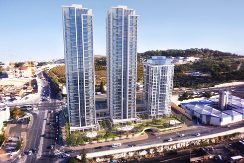 הדמיה של מגדל משרדים (אילוסטרציה), הדמיה: אמציה אהרונסון אדריכלים
