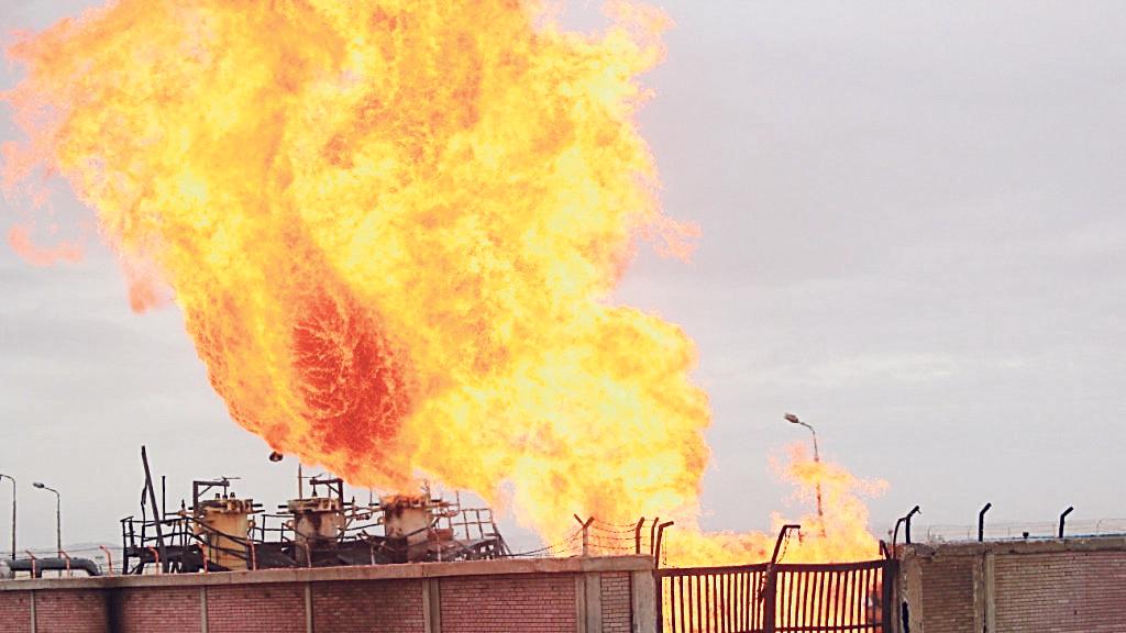 אחד מהפיצוצים בצינור הגז של EMG שבאל עריש