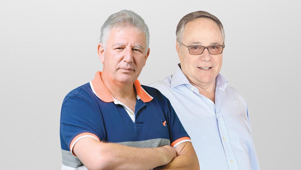 מימין: יאיר המבורגר וגילעד אלטשולר, צילום: עמית שעל, אוראל כהן