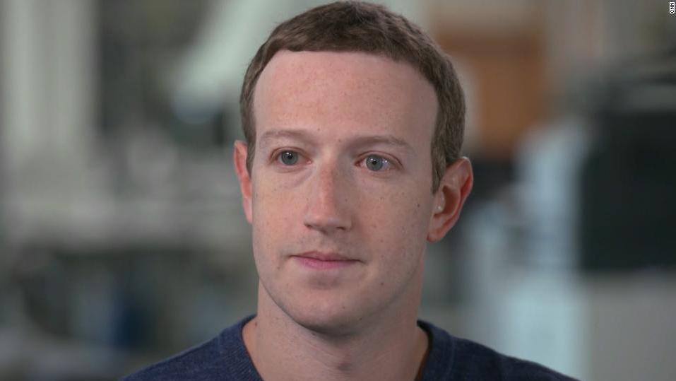 """מארק צוקרברג יו""""ר ו מנכ""""ל פייסבוק ראיון CNN"""