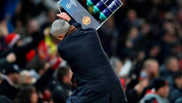 ז'וזה מוריניו מתעצבן במהלך משחק, צילום: רויטרס