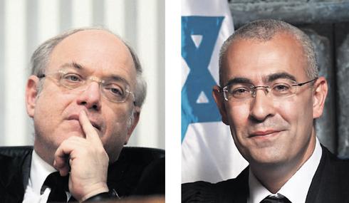 מימין: השופטים עופר גרוסקופף וניל הנדל, צילום: אלכס קולומויסקי