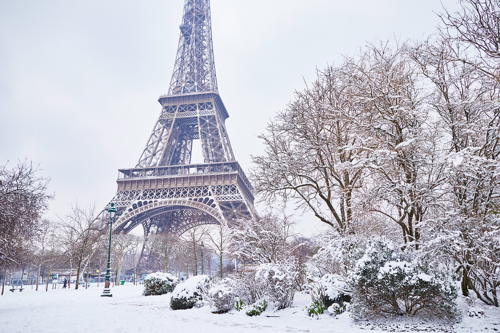 פוטו תמונות חורף פריז צרפת