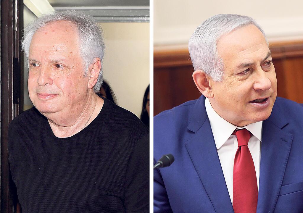 מימין ראש הממשלה בנימין נתניהו ואיש העסקים שאול אלוביץ'
