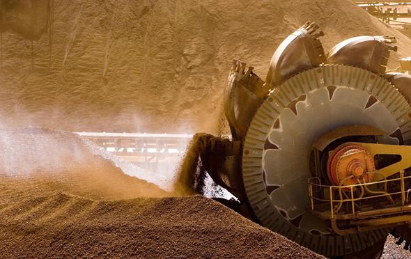 כרייה מכרה מכרות גלנקור ריו טינטו, צילום: בלומברג