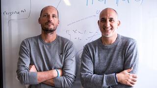 חברת הייבוב Hibob מימין רוני זהבי ו ישראל דוד, צילום: רותם להב