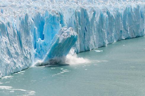 קרחונים נמסים, צילום: שאטרסטוק