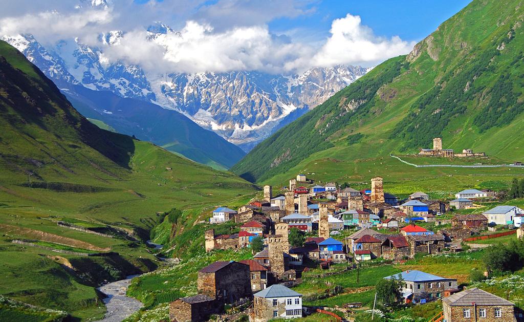 פוטו היישובים הגבוהים בעולם Ushguli,  גאורגיה