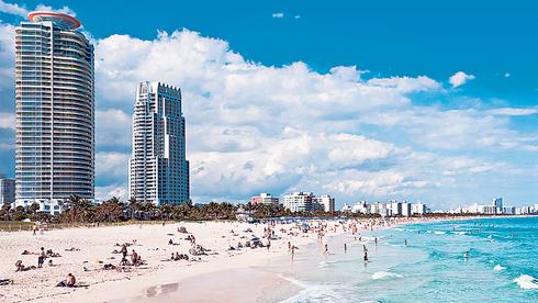 חוף במיאמי, פלורידה, צילום: שאטרסטוק