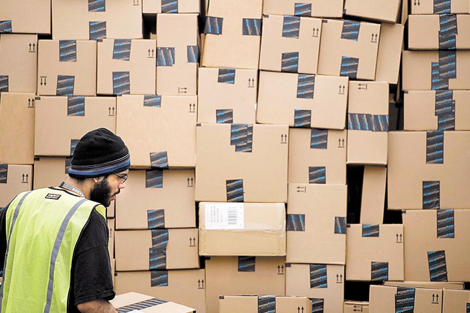 אמזון מחסן מחסנים חבילות