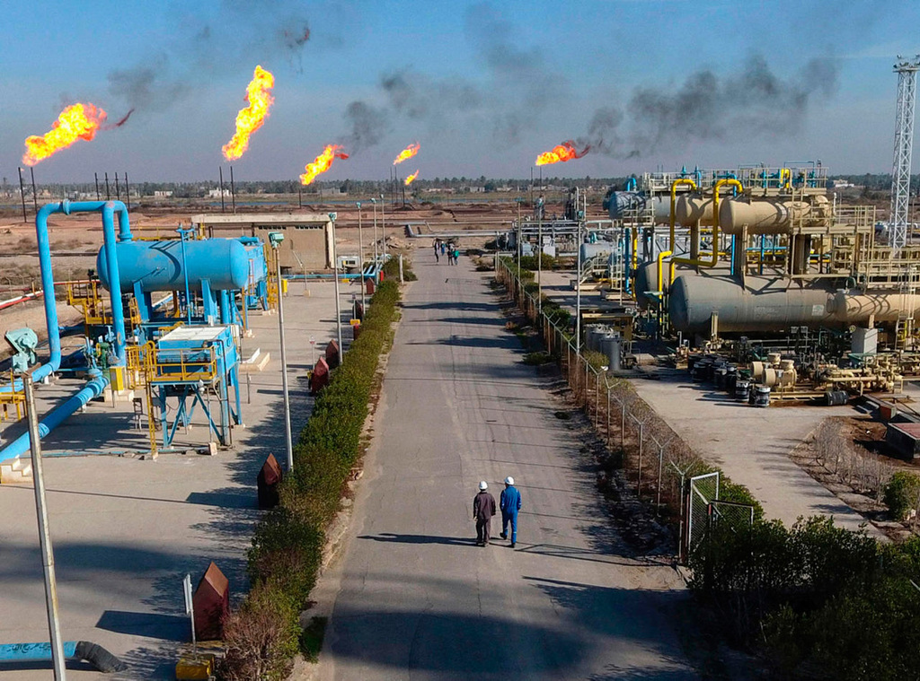An oil field in southern Iraq where Exxon is active