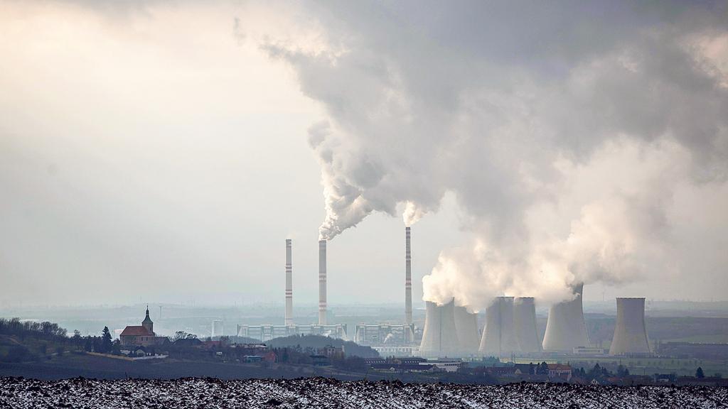 פליטת גזי חממה מבתי זיקוק ב צ'כיה