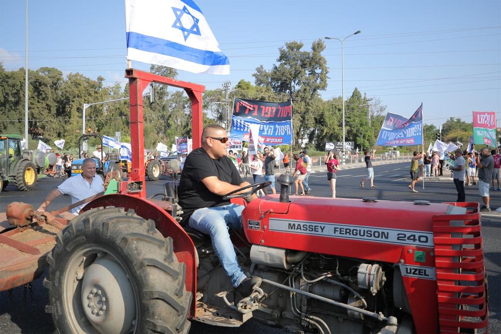 """הפגנת חקלאים כפר בילו ביל""""ו ותמ""""ל"""