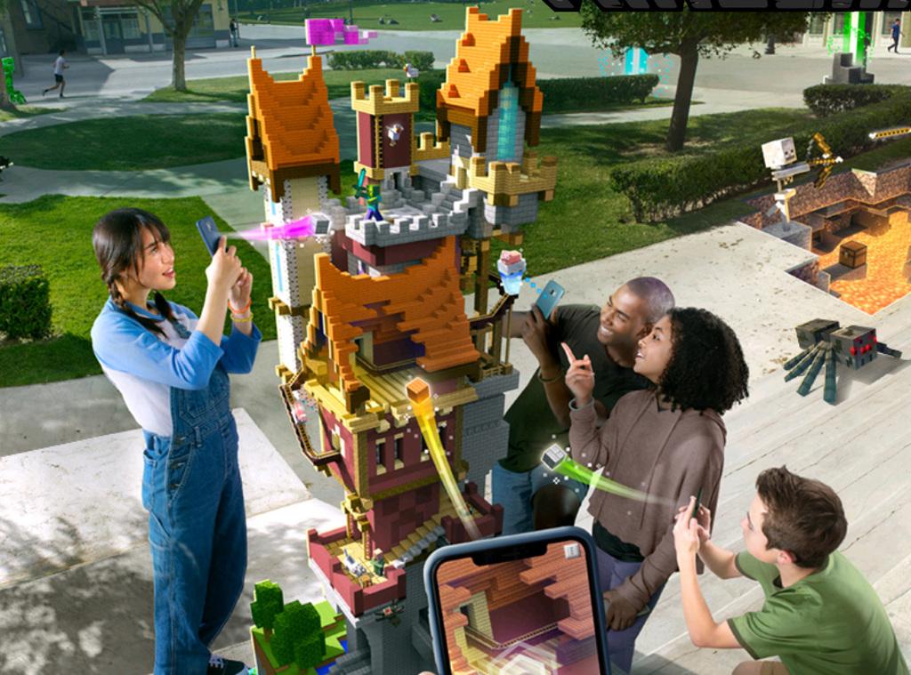 מיינקראפט ארת' Minecraft earth מציאות מוגברת משחק מובייל 2