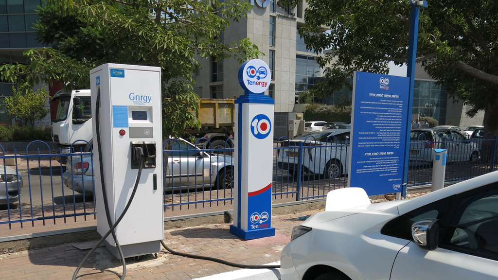 עמדת טעינה ל רכב חשמלי תחנת דלק טן 10