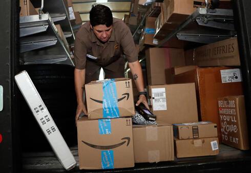 חבילות של אמזון, צילום: איי פי