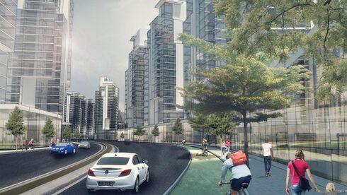 הדמיה פינוי בינוי בשכונת קריית משה ברחובות, הדמיה: משרד בר לוי אדריכלים ומתכנני ערים