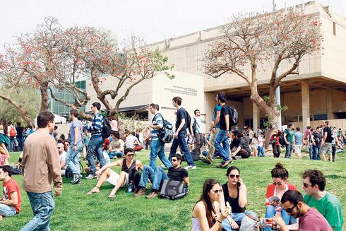 """סטודנטים באוניברסיטת ת""""א, צילום: נמרוד גליקמן"""
