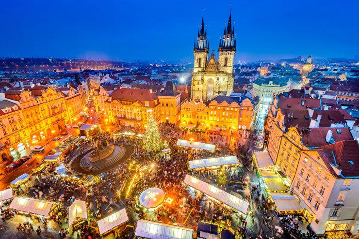 פראג צ'כיה שוק כריסמס חג המולד