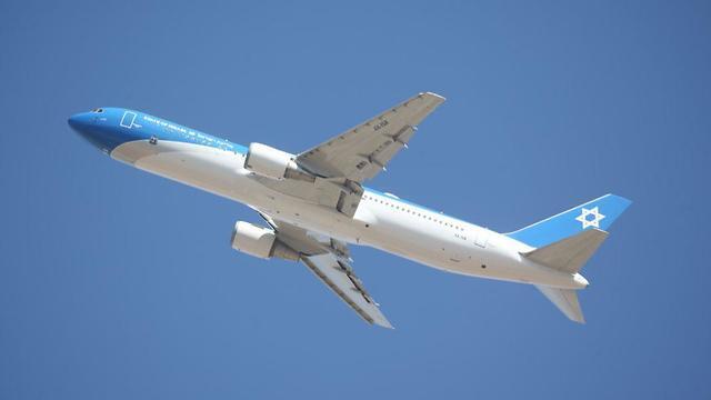 מטוס ראש הממשלה בטיסת מבחן, צילום: מוטי קמחי