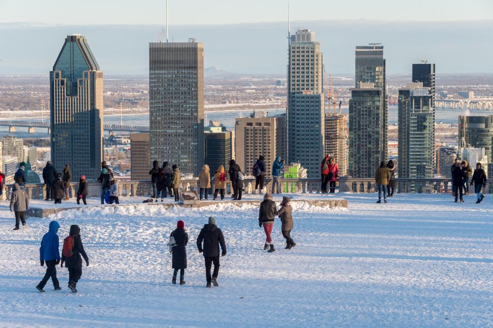 מונטריאול קנדה חורף שלג