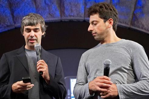 משמאל: לארי פייג
