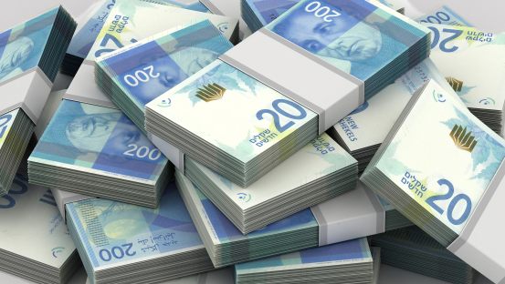שטרות כסף מזומן שקל 200 שקלים