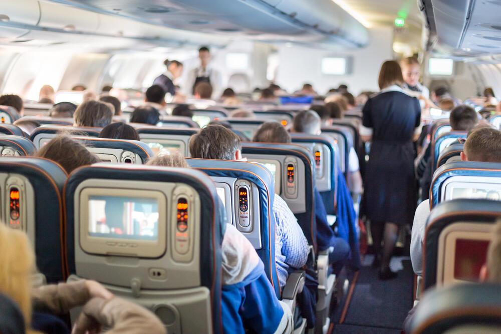 נוסעים מטוס טיסה איכות אוויר