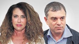 """מימין שלמה פילבר ו מנכ""""לית בזק לשעבר סטלה הנדלר"""