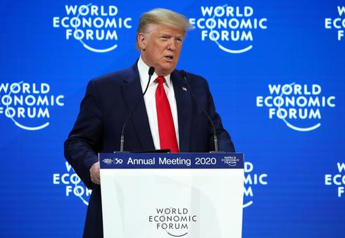 """נשיא ארה""""ב לשעבר דונלד טראמפ בפורום הכלכלי העולמי בדאבוס אשתקד, צילום: רויטרס"""