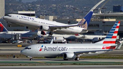 מטוסים של אמריקן איירליינס ויונייטד איירליינס, צילום: AP