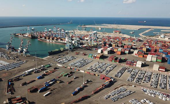 """מכולות בנמל אשדוד, צילום: יח""""צ נמל אשדוד"""