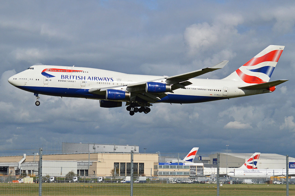 מטוס בואינג 747-436 בריטיש איירווייז שיא מהירות