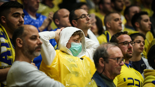 כדורסל יורוליג מכבי תל אביב נגד אפס אנאדולו איסטנבול קהל קורונה