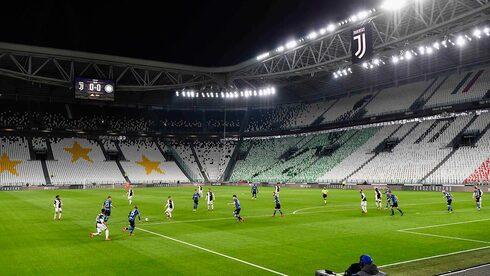 משחק באצטדיון יובנטוס בזמן הקורונה , צילום: איי פי
