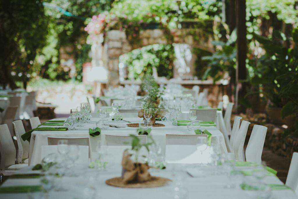 בוסתן אבו גוש עיצוב סידור שולחנות חתונה ארועים 11