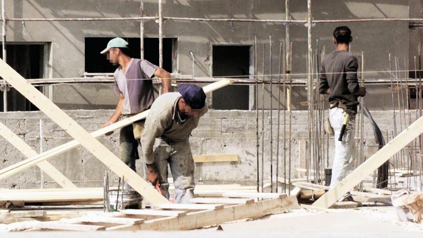 אתר בנייה פועלי בניין פלסטינים
