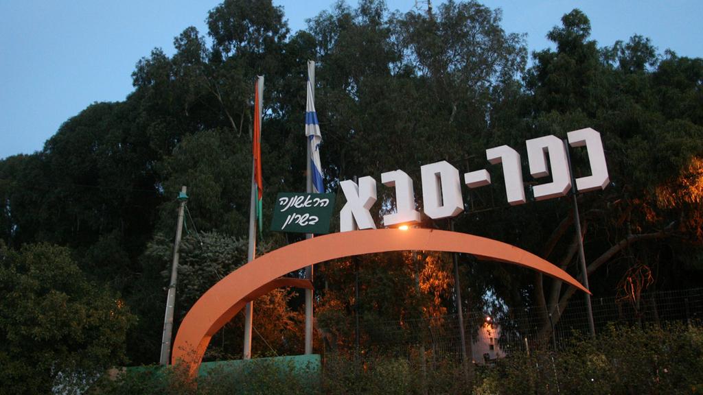 שלט כניסה כפר סבא