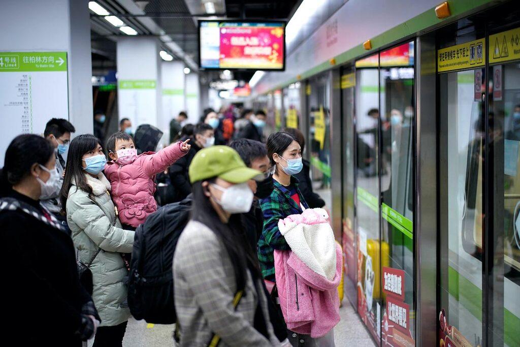 רכבת תחתית הסרת סגר ווהאן סין