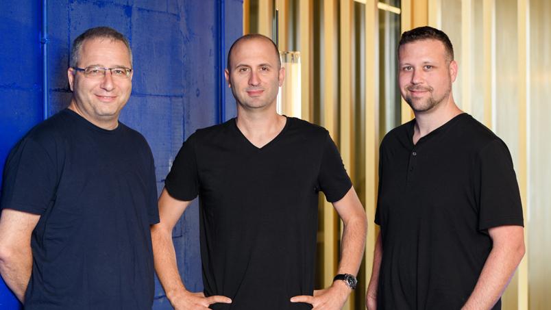 המייסדי החברה ראפיד Rapyd מימין: עומר פריאל אריק שטילמן ו ארקדי קרפמן