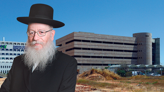 השר יעקב ליצמן מבנה בניין נטוש ליד בהח אסותא אשדוד