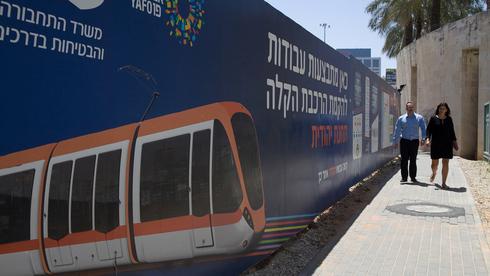 עבודות הרכבת הקלה בתל אביב, צילום: אוראל כהן