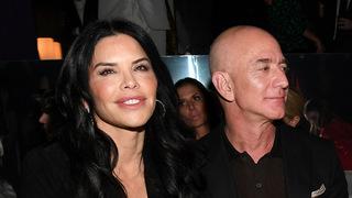 בזוס וזוגתו לורן סנצ'ז, צילום: גטי אימג'ס