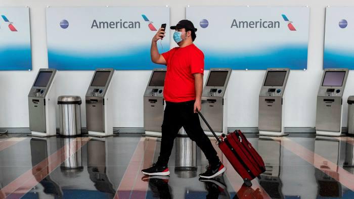 אמריקן איירליינס חברת תעופה קורונה צ'ק אין נמל תעופה וושינגטון