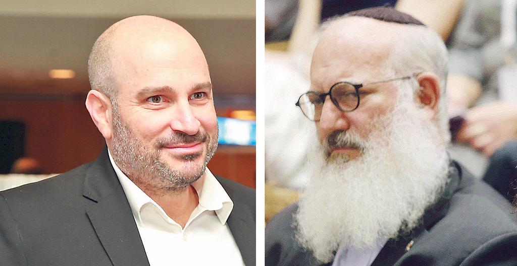 מימין: אדוארדו אלשטיין, לשעבר בעל השליטה באי.די.בי, ואהרון קאופמן, צילום: עמית שעל, אוראל כהן