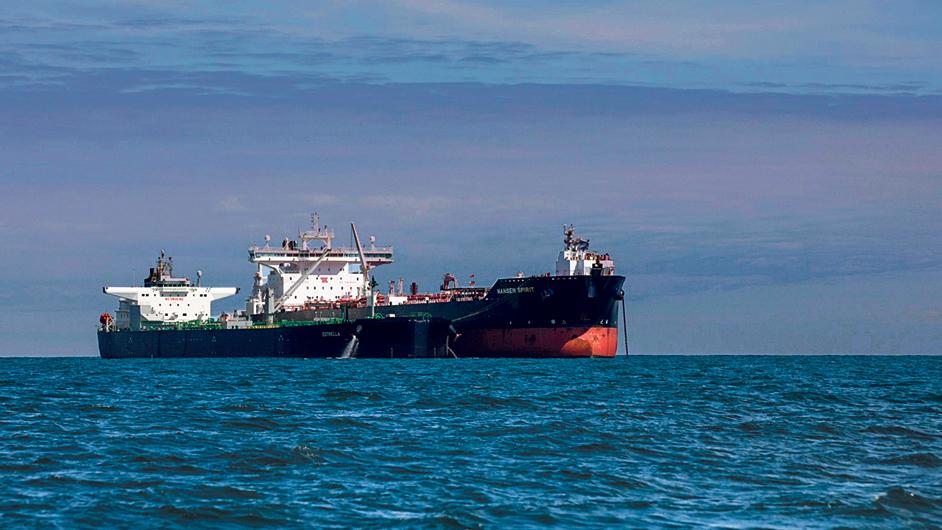 ספינה עם מכליות נפט שיצאה מ  בריטניה בחודש שעבר